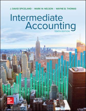 Solution Manual (Downloadable Files) for Intermediate Accounting, 10th Edition, David Spiceland, ISBN10: 1260310175, ISBN13: 9781260310177