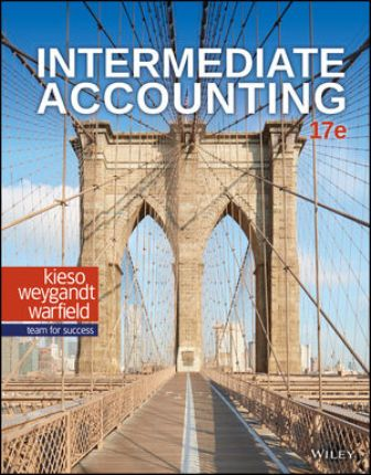 Solution Manual (Downloadable Files) for Intermediate Accounting, 17th Edition, Donald E. Kieso, ISBN 111950368X, ISBN 9781119503682
