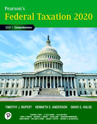 Solution Manual (Downloadable Files) for Pearson's Federal Taxation 2020 Corporations, Partnerships, Estates and Trusts, 33rd Edition, Timothy J. Rupert, Kenneth E. Anderson, ISBN-10: 0135197368, ISBN-13: 9780135197363