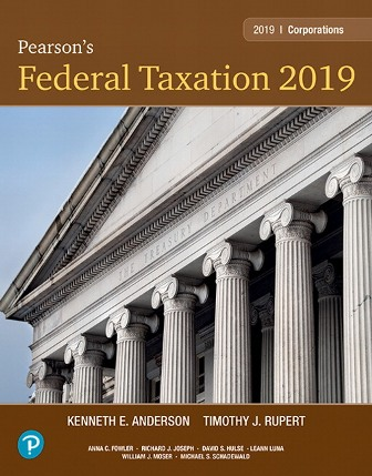 Test Bank (Downloadable Files) for Pearson's Federal Taxation 2019 Corporations, Partnerships, Estates and Trusts, 32nd Edition, Timothy J. Rupert, Kenneth E. Anderson, ISBN-10: 0134855485, ISBN-13: 9780134855486, ISBN-10: 0134739698, ISBN-13: 9780134739694