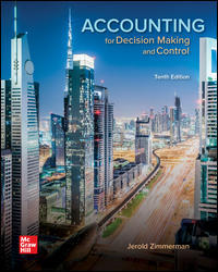 Solution Manual (Downloadable Files) for Accounting for Decision Making and Control, 10th Edition, Jerold Zimmerman, ISBN10: 1259969495, ISBN13: 9781259969492