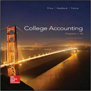 Test Bank (Downloadable Files) for College Accounting, 14th Edition, Jeffrey Slater, Mike Deschamps, ISBN-10: 0135188806, ISBN-13: 9780135188804