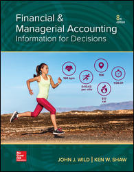 Test Bank (Downloadable Files) for Financial and Managerial Accounting, 8th Edition, John Wild, Ken Shaw, ISBN10: 1260247856, ISBN13: 9781260247855