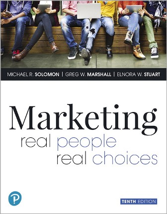 Test Bank (Downloadable Files) for Marketing: Real People, Real Choices, 10th Edition, Michael R. Solomon, Greg W. Marshall, Elnora W. Stuart, ISBN-10: 0135199891, ISBN-13: 9780135199893, ISBN-10: 0135209927, ISBN-13: 9780135209929