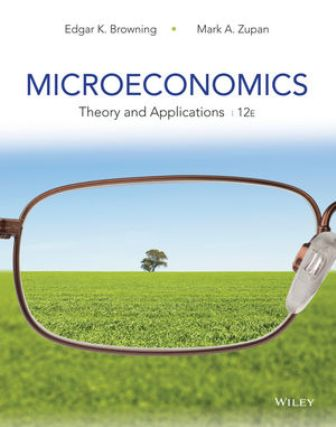 Test Bank (Downloadable Files) for Microeconomics: Theory and Applications, 12th Edition, Edgar K. Browning, Mark A. Zupan, ISBN: 1118758870, ISBN: 9781118758878