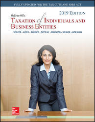 Test Bank (Downloadable Files) for McGraw-Hill's Taxation of Individuals and Business Entities 2019 Edition, 10th Edition, By Brian Spilker, ISBN10: 1260118878, ISBN13: 9781260118872