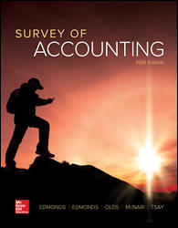 Test Bank (Downloadable Files) for Survey of Accounting 5th Edition Thomas Edmonds, Christopher Edmonds ISBN: 9781259631122