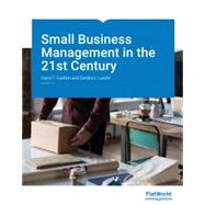 Test Bank for Small Business Management in the 21st Century, Version 1.0 1st Edition David T. Cadden, Sandra L. Lueder ISBN: 9781453345559 9781453345559