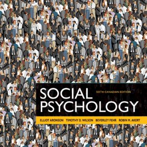 Solution manual for Social Psychology 6th Edition Elliot Aronson,Timothy D. Wilson,Beverley Fehr,Robin M. Akert ISBN: 9780205970032 9780205970032