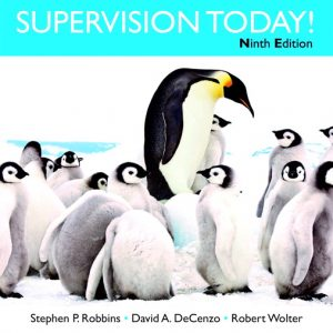 Solution Manual For Supervision Today! , 9th Edition By P. Robbins