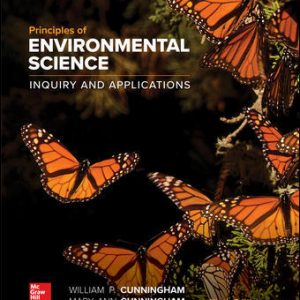 Test Bank (Downloadable files) For Principles of Environmental Science 9th Edition By William Cunningham, Mary Cunningham,ISBN10: 1260219712,ISBN13: 9781260219715