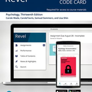 Test Bank For Revel for Psychology 13th Edition By Wade