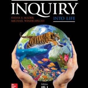 Solution Manual (Downloadable Files) for Inquiry into Life: Relevancy Update 15th Edition By Sylvia Mader ,Michael Windelspecht ISBN10: 126017767X ,ISBN13: 9781260177671