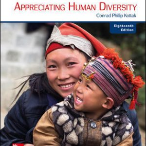 Solution Manual (Downloadable files) For Anthropology: Appreciating Human Diversity 18th Edition By Conrad Kottak, ISBN 10: 1260052400, ISBN 13: 9781260052404