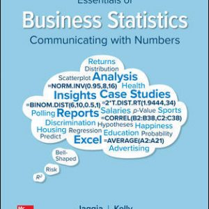 Solution Manual (Downloadable Files) for Essentials of Business Statistics 2nd Edition By Sanjiv Jaggia, Alison Kelly ISBN 10: 1260239519, ISBN 13: 9781260239515