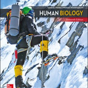 Solution Manual (Downloadable Files) For Human Biology 16th Edition By Sylvia Mader , Michael Windelspecht ISBN10: 1260233030,ISBN13: 9781260233032